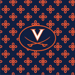 Collegiate Triple Zip Hipster Crossbody-Navy/Orange Mini Concerto with University of Virginia Logo-Image 2-Vera Bradley