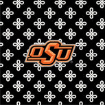 Collegiate Front Zip Wristlet-Black/White Mini Concerto with Oklahoma State University Logo-Image 2-Vera Bradley