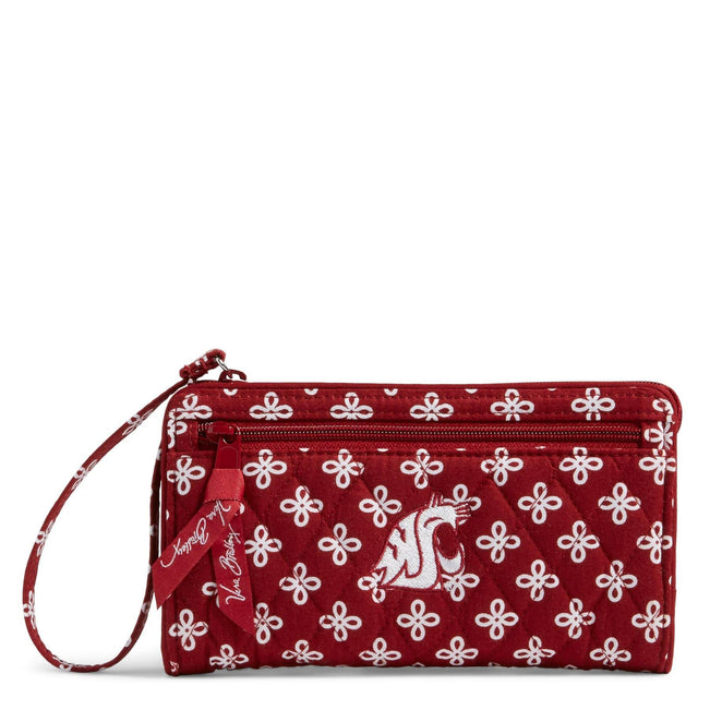 Collegiate Front Zip Wristlet-Cardinal/White Mini Concerto with Washington State University Logo-Image 1-Vera Bradley