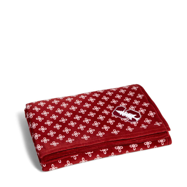 Collegiate XL Throw Blanket-Cardinal/White Mini Concerto with Stanford University Logo-Image 1-Vera Bradley
