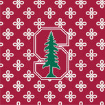 Collegiate XL Throw Blanket-Cardinal/White Mini Concerto with Stanford University Logo-Image 3-Vera Bradley