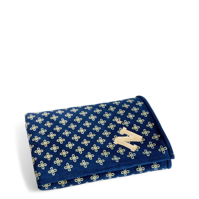 Collegiate XL Throw Blanket-Navy/Fash. Gold Mini Concerto with United States Naval Academy Logo-Image 1-Vera Bradley