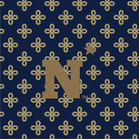Collegiate XL Throw Blanket-Navy/Fash. Gold Mini Concerto with United States Naval Academy Logo-Image 2-Vera Bradley