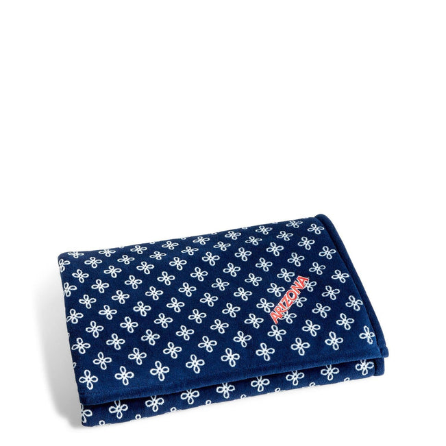 Collegiate XL Throw Blanket-Navy/White Mini Concerto with University of Arizona Logo-Image 1-Vera Bradley