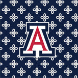 Collegiate XL Throw Blanket-Navy/White Mini Concerto with University of Arizona Logo-Image 2-Vera Bradley