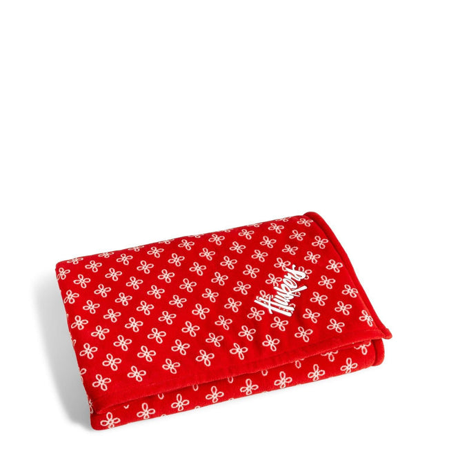 Collegiate XL Throw Blanket-Red/White Mini Concerto with University of Nebraska Logo-Image 1-Vera Bradley