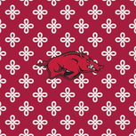 Collegiate Zip ID Lanyard-Cardinal/White Mini Concerto with University of Arkansas Logo-Image 2-Vera Bradley
