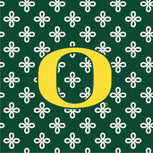 Collegiate Zip ID Lanyard-Dk Green/White Mini Concerto with University of Oregon Logo-Image 3-Vera Bradley