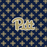 Collegiate Zip ID Lanyard-Navy/Fash. Gold Mini Concerto with University of Pittsburgh Logo-Image 2-Vera Bradley