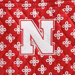 Collegiate Zip ID Lanyard-Red/White Mini Concerto with University of Nebraska Logo-Image 2-Vera Bradley