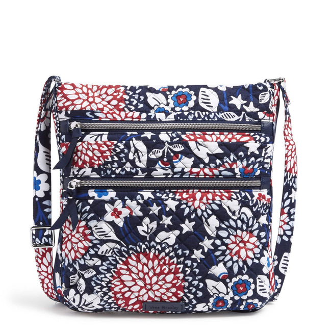 Triple Zip Hipster-Red White & Blossoms-Image 1-Vera Bradley