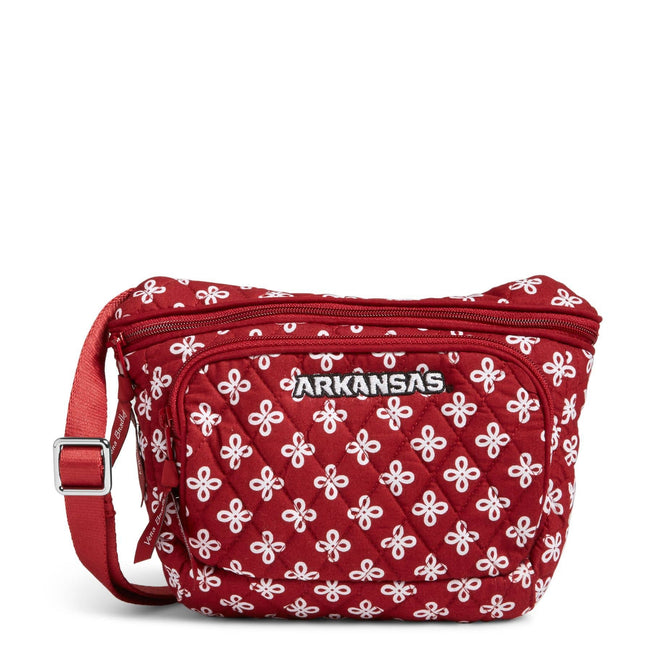 Collegiate Belt Bag-Cardinal/White Mini Concerto with University of Arkansas Logo-Image 1-Vera Bradley