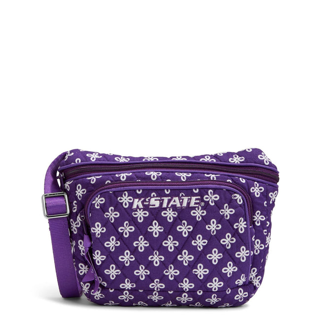Collegiate Belt Bag-Purple/White Mini Concerto with Kansas State University Logo-Image 1-Vera Bradley