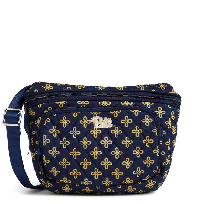 Collegiate Belt Bag-Navy/Fash. Gold Mini Concerto with University of Pittsburgh Logo-Image 1-Vera Bradley
