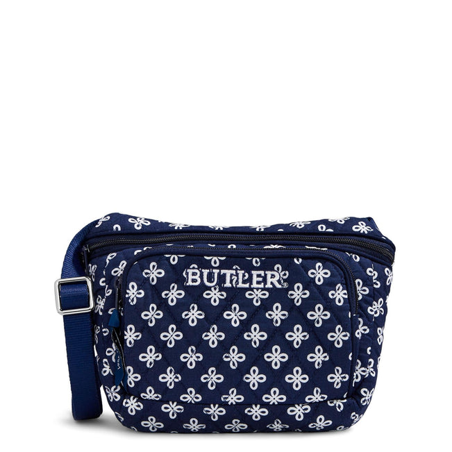 Collegiate Belt Bag-Navy/White Mini Concerto with Butler University Logo-Image 1-Vera Bradley