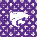 Collegiate RFID All in One Crossbody Bag-Purple/White Mini Concerto with Kansas State University Logo-Image 2-Vera Bradley