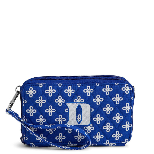 Collegiate RFID All in One Crossbody Bag-Royal/White Mini Concerto with Duke University Logo-Image 1-Vera Bradley