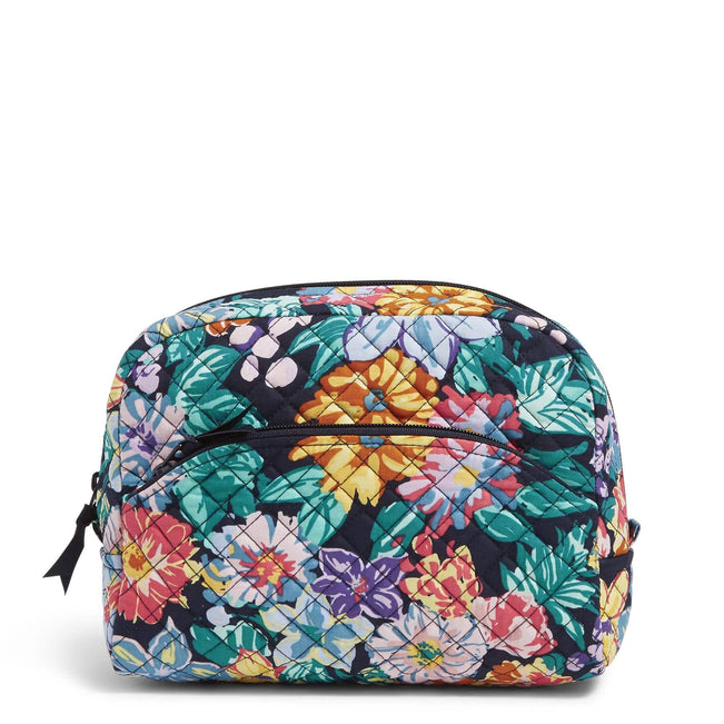 Large Cosmetic Bag-Happy Blooms-Image 1-Vera Bradley