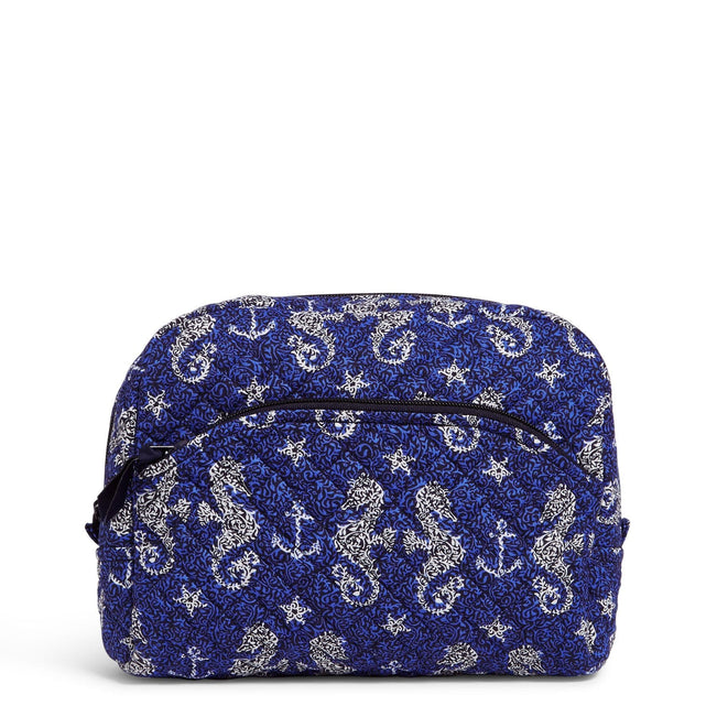 Large Cosmetic Bag-Seahorse of Course-Image 1-Vera Bradley