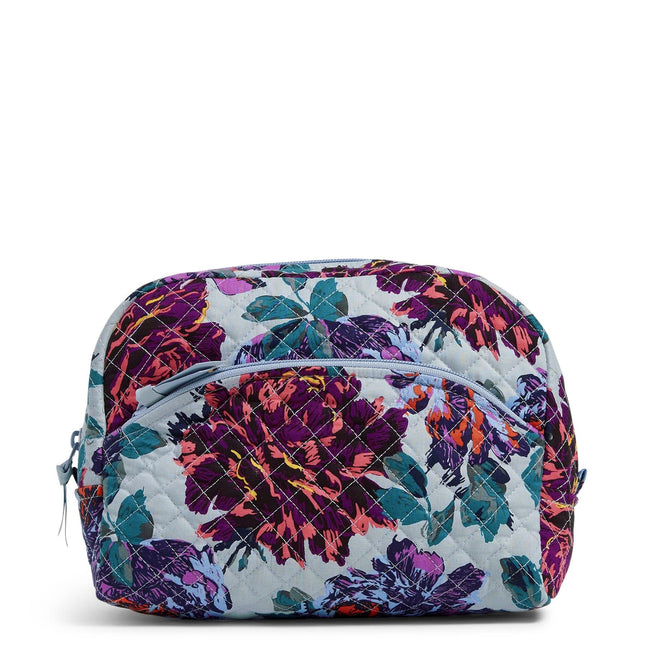 Large Cosmetic Bag-Neon Blooms-Image 1-Vera Bradley