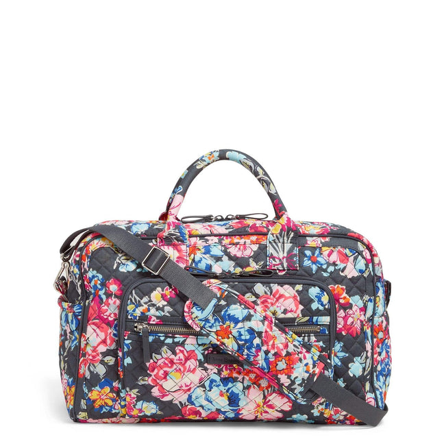Compact Weekender Travel Bag-Pretty Posies-Image 1-Vera Bradley