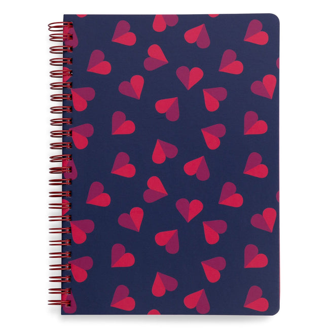 Mini Notebook with Pocket-Sweet Hearts-Image 1-Vera Bradley