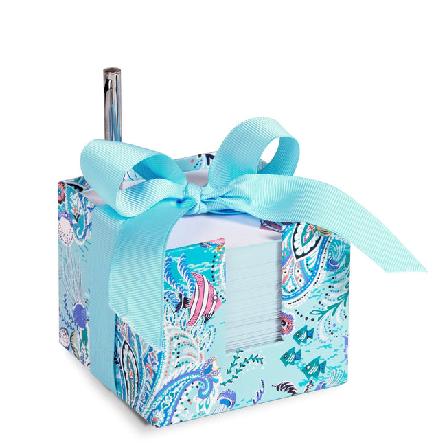 Note Cube-Paisley Wave-Image 1-Vera Bradley