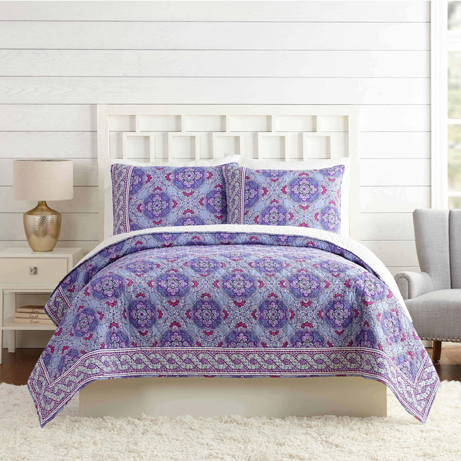 Purple Passion Quilt Twin-Lilac Tapestry-Image 1-Vera Bradley