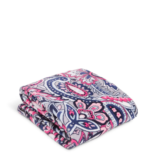 Plush Throw Blanket-Gramercy Paisley-Image 1-Vera Bradley