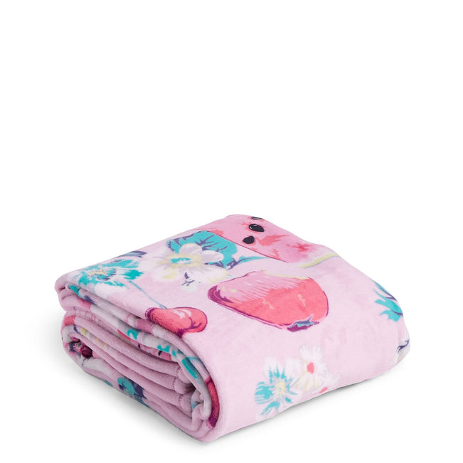 Plush Throw Blanket-Rosy Garden Picnic-Image 1-Vera Bradley