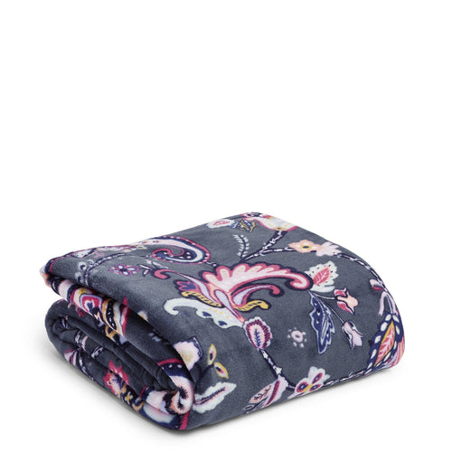Plush Throw Blanket-Felicity Paisley-Image 1-Vera Bradley
