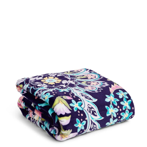 Plush Throw Blanket-French Paisley-Image 1-Vera Bradley