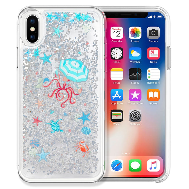 Glitter Flurry Case for iPhone X/XS-Sea Life-Image 1-Vera Bradley