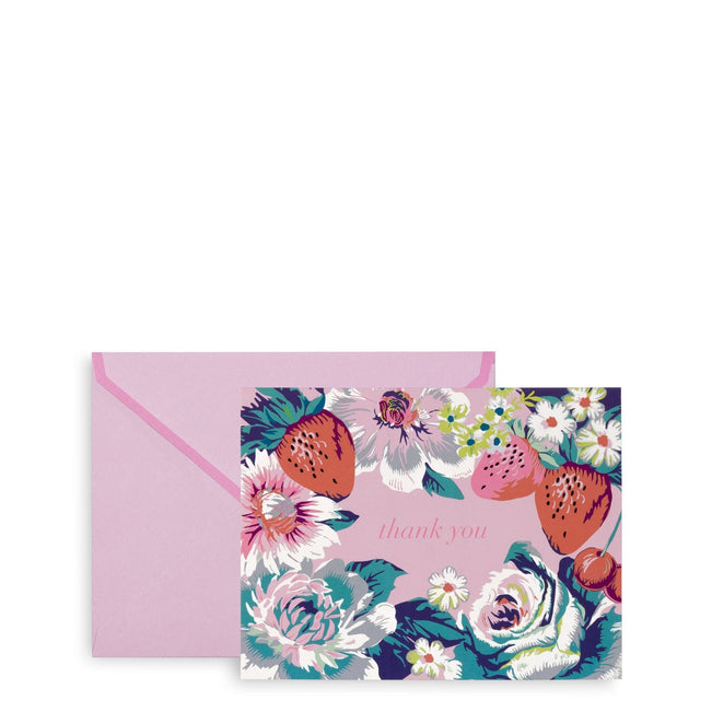 Thank You Note Cards-Rosy Garden Picnic-Image 1-Vera Bradley