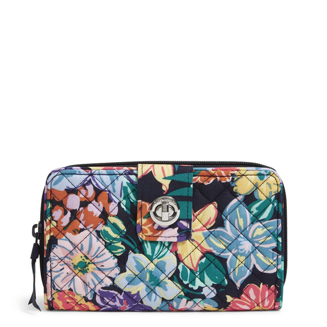 RFID Turnlock Wallet-Happy Blooms-Image 1-Vera Bradley
