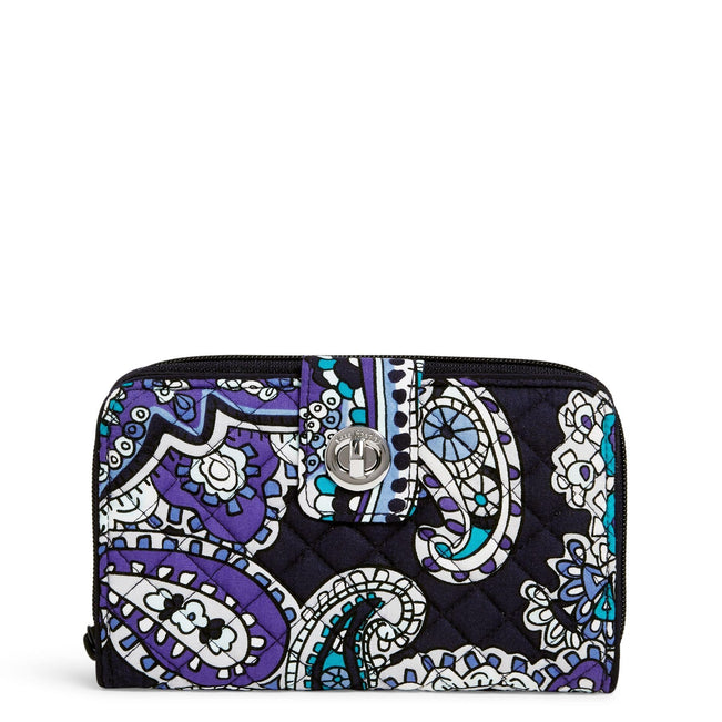 RFID Turnlock Wallet-Deep Night Paisley-Image 1-Vera Bradley