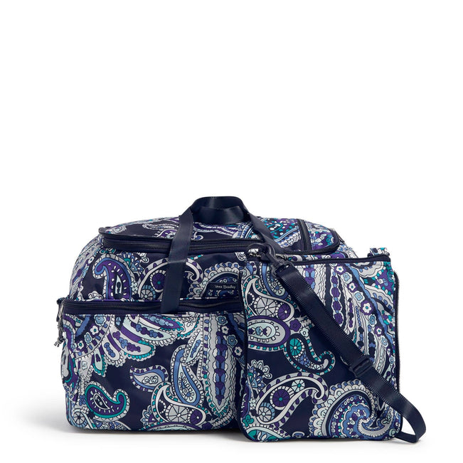 Lighten Up Convertible Travel Bag-Deep Night Paisley-Image 1-Vera Bradley