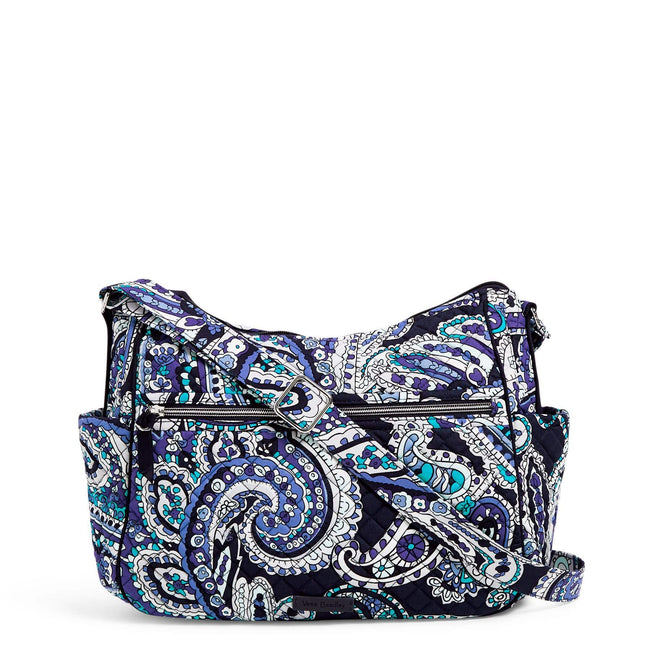 Large On the Go Crossbody-Deep Night Paisley-Image 1-Vera Bradley