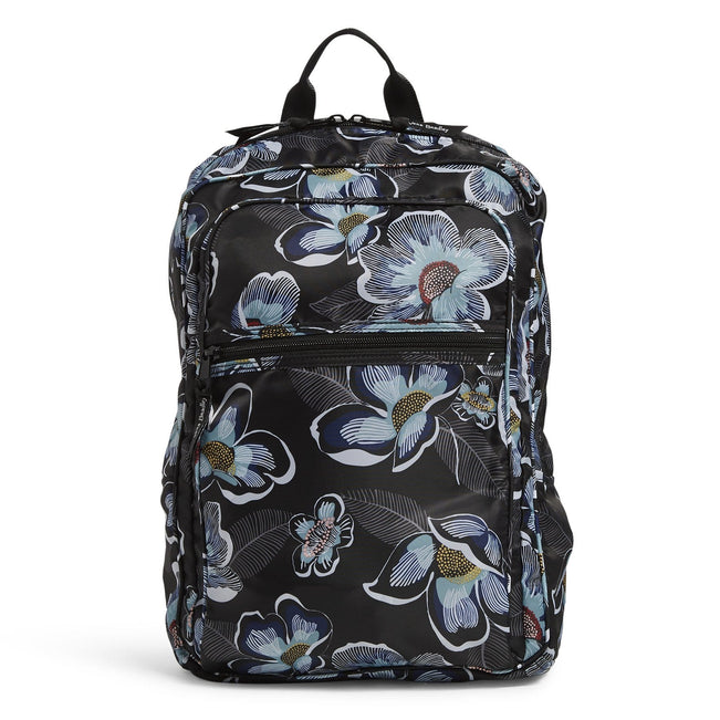 Packable Backpack-Blooms Shower Black-Image 1-Vera Bradley