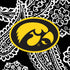 Collegiate Plush XL Throw Blanket-Black/White Bandana with University of Iowa-Image 3-Vera Bradley