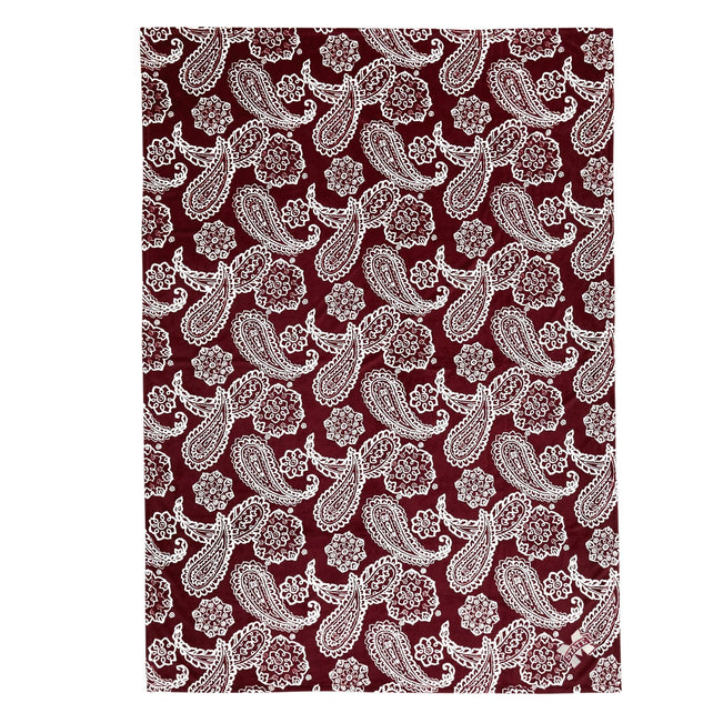 Collegiate Plush XL Throw Blanket-Maroon/White Bandana with Mississippi State Univeristy Logo-Image 1-Vera Bradley