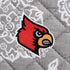 Collegiate Plush XL Throw Blanket-Gray/White Bandana with University of Louisville Logo-Image 3-Vera Bradley