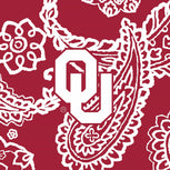 Collegiate Plush XL Throw Blanket-Cardinal/White Bandana with University of Oklahoma Logo-Image 3-Vera Bradley