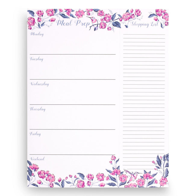 Meal Planner with Magnet-Hummingbird Ditsy-Image 1-Vera Bradley