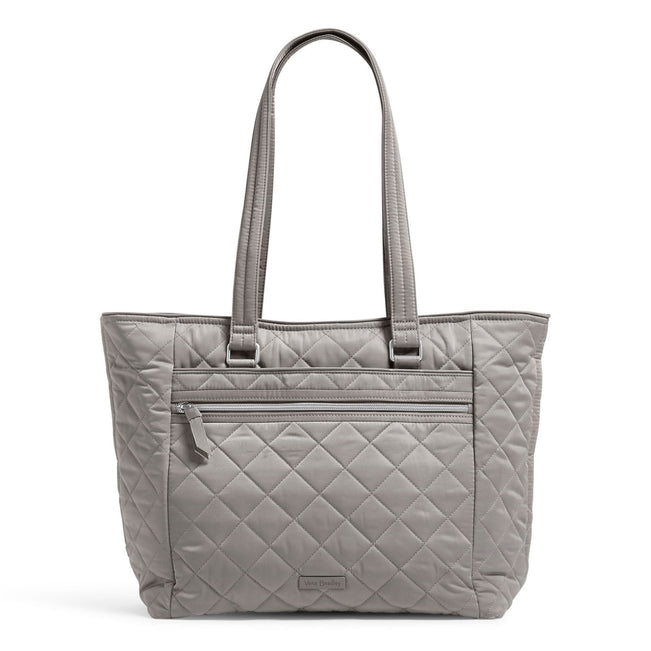 Work Tote Bag-Performance Twill Tranquil Gray-Image 1-Vera Bradley