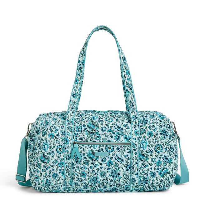 Medium Travel Duffel Bag-Cloud Vine-Image 1-Vera Bradley