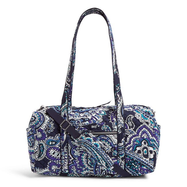 Small Travel Duffel Bag-Deep Night Paisley-Image 1-Vera Bradley