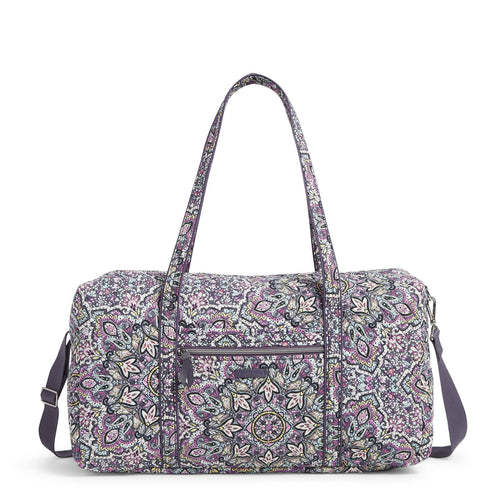 Lay Flat Travel Duffel Bag-Bonbon Medallion-Image 1-Vera Bradley
