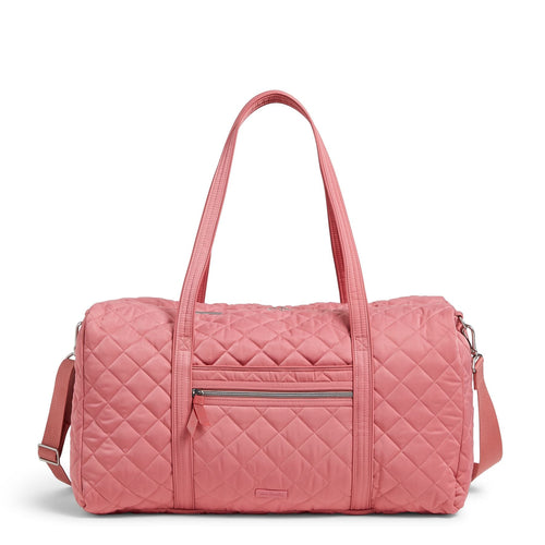 Lay Flat Travel Duffel Bag-Performance Twill Strawberry Ice-Image 1-Vera Bradley