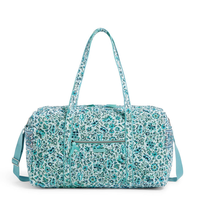 Large Travel Duffel Bag-Cloud Vine-Image 1-Vera Bradley